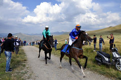 Traditional horse races,Restelica, Kosovo Royalty Free Stock Images