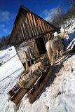 Traditional horse sledge Stock Photography