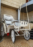 Traditional horse white car Royalty Free Stock Images