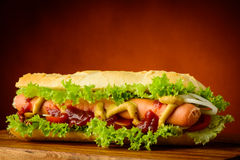 Traditional hot dog Royalty Free Stock Photo