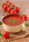 Fresh diet tomato soup Royalty Free Stock Images