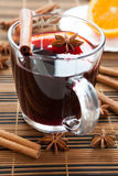 Traditional hot mulled wine Royalty Free Stock Images