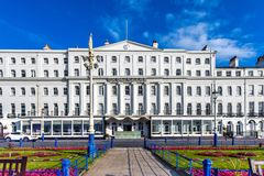 Traditional Hotel Eastbourne. Classic traditional hotel along seafront at Eastbourne Sussex England Stock Photography