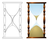 Traditional hourglass illustration Stock Photography