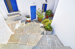 Traditional house at Apollonia Sifnos Greece stock photography
