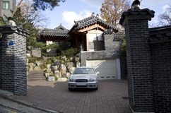 Traditional house architecture in Korea Stock Photo