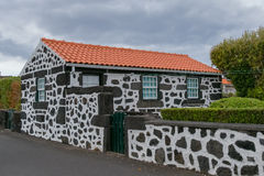 Traditional House Azores. This fantastic house is located in a traditional village on the island of Pico in the Azores Stock Photography