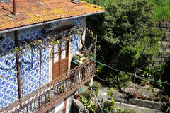 Traditional house with balcony in Porto, Portugal Stock Image