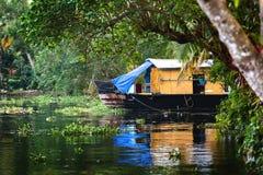 Houseboat in Kerala royalty free stock photo