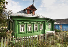 Traditional house in Bogolyubovo. Vladimir oblast. Russia Stock Image