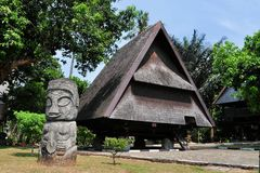 Traditional house of Celebes, Sulawesi, Indonesia Royalty Free Stock Photos