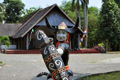 Traditional house of Celebes, Sulawesi, Indonesia Royalty Free Stock Images