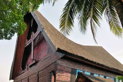 Traditional house of Celebes, Sulawesi, Indonesia Royalty Free Stock Photography