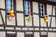 Traditional house decorated during the carnival Stock Photo