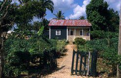 Traditional house Dominican republic Stock Photo