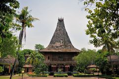 Traditional house on East Timor, Timor-Leste Royalty Free Stock Photography