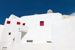Traditional house at Emporio, Santorini Stock Photo