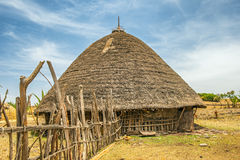 Traditional house in  Ethiopia, Africa Royalty Free Stock Photo