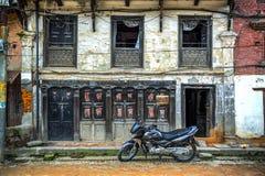 Bhaktapur Durbar Square, Nepal. Traditional house façade in the Bhaktapur Durbar Square, the former capital city of the Royal Kingdom of Bhaktapur, Kathmandu stock images