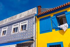 Traditional house facade in Aveiro, Portugal Royalty Free Stock Photography