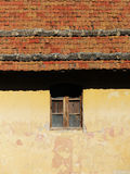 Traditional house, facade and roof, background Royalty Free Stock Photo