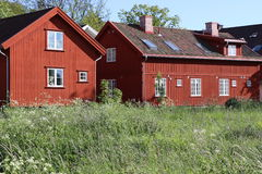 Traditional house in Fredrikstad Royalty Free Stock Image