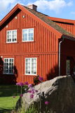 Traditional house in Fredrikstad Stock Images