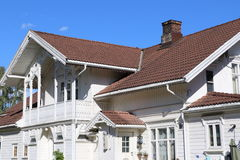 Traditional house in Fredrikstad Stock Photography