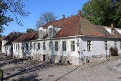 Traditional house in Fredrikstad Royalty Free Stock Photography