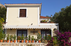 Traditional house in Greece Royalty Free Stock Photos