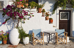 Traditional house in a Greek island Stock Images