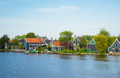 Traditional house at the historic village of Zaanse Schans Stock Photos
