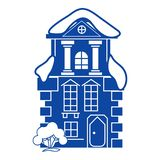 Traditional house icon, simple style stock illustration