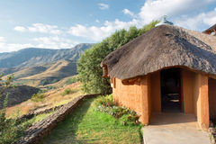Traditional House In Mountains Stock Image