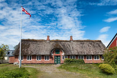 Traditional House In Nordby On Fano Denmark Stock Photo