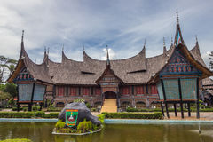 The traditional house of Indonesia, Replica traditional house we. Stern Sumatra, Padang asia stock photos