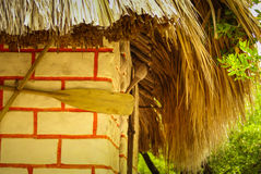Traditional house in the island Mucura ,Colombia Royalty Free Stock Photo