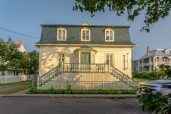 Traditional house in Kamouraska, Quebec, Canada royalty free stock photography
