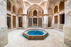 Traditional house Khan-e Abbasian in Kashan, Iran Stock Images