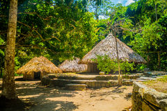 Traditional house of Kogi people, indigenous Royalty Free Stock Images