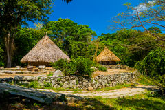 Traditional house of Kogi people, indigenous Stock Images