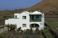 Traditional House on Lanzarote Stock Photo