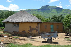Traditional House in Lesotho Royalty Free Stock Image