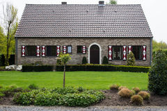 Traditional house in Limburg, Belgium Royalty Free Stock Images
