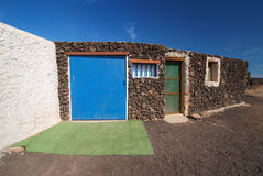Traditional house on Lobos Island, Canary Islands Royalty Free Stock Photography