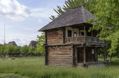 Traditional house made entirely of wood. Very old traditional house made entirely of wood royalty free stock photography