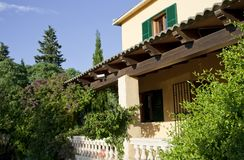 Traditional house in Majorca, raw Royalty Free Stock Photography