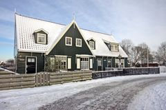 Traditional house in Marken Netherlands Stock Photography