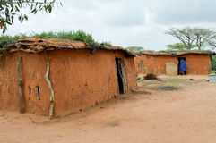 Traditional house of masai Royalty Free Stock Image