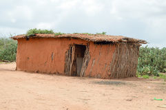 Traditional house of masai Royalty Free Stock Photo